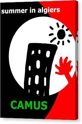 Camus Algiers Poster  Canvas Print