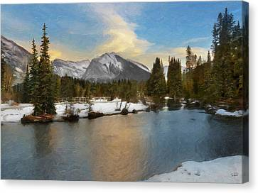 Canmore Oil Canvas Print