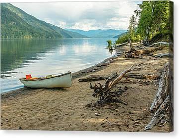 Canoe At Mable Lake Canvas Print
