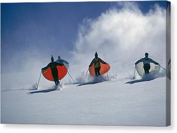 Caped Skiers Canvas Print