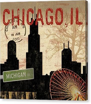 Chicago Skyline Canvas Prints Fine Art America