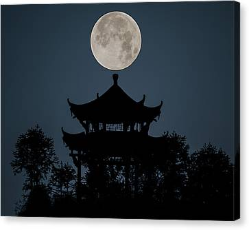 China Moon Canvas Print