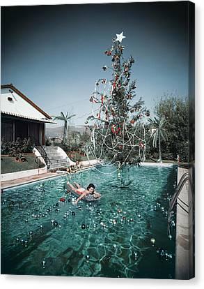 Christmas Swim Canvas Print