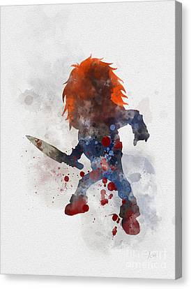 Canvas CHUCKY CHILDS PLAY 2 Horror Movie Art Print Poster