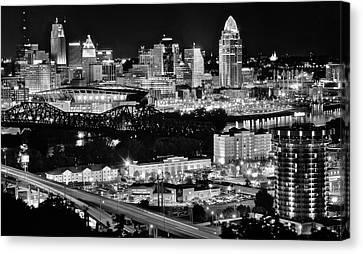 Cincinnati Covington And Ohio River Canvas Print