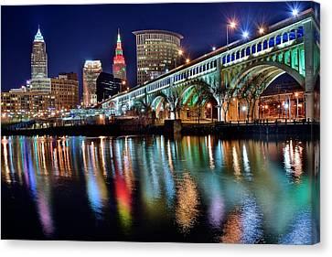 Downtown Cleveland Canvas Prints Fine Art America