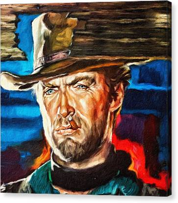 Clint Eastwood, Portrait Canvas Print
