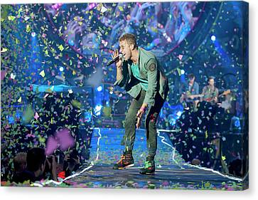 Coldplay Perform At Emirates Stadium In Canvas Print by Neil Lupin