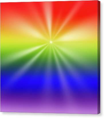 Color Burst Square 2 Canvas Print