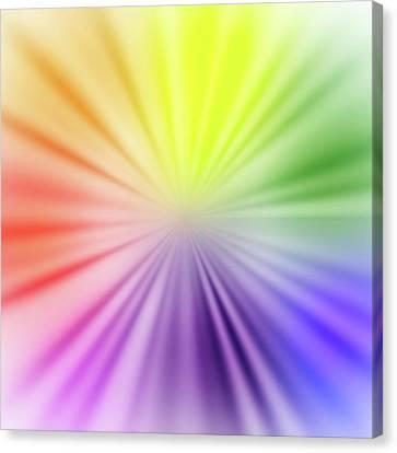 Color Burst Square Canvas Print