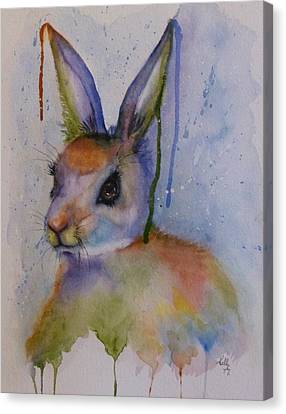 Color My World Bunny Canvas Print