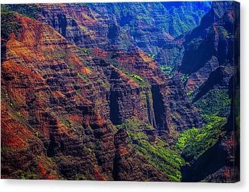 Colorful Mountains Of Kauai Canvas Print
