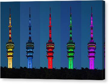 Coloured Towers By Harman Samsung Canvas Print