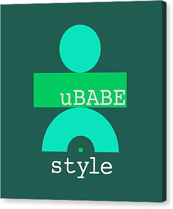 Cool Green Style Canvas Print
