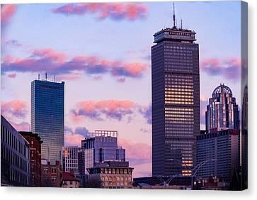 Cotton Candy Clouds Boston Canvas Print