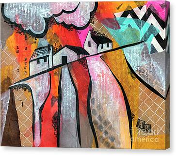 Canvas Print featuring the mixed media Country Life by Ariadna De Raadt