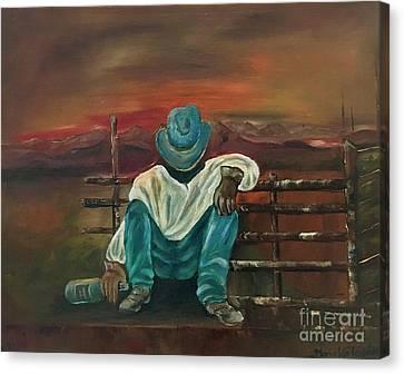 Cowboy Life Canvas Print