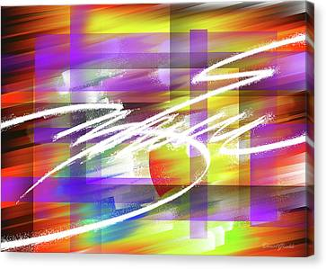 Creative Flashes Of A Captive Mind Of Reality Canvas Print