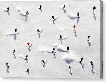Crowded Holiday Canvas Print