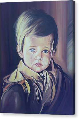 Crying Child Canvas Print