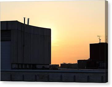 Glowing Sky Curved Concrete #2 Canvas Print