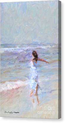 Dancing On The Sand Canvas Print