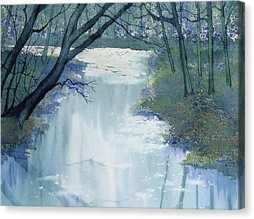 Dazzle On The Derwent Canvas Print