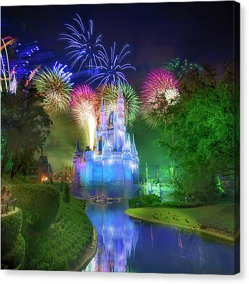 Disney's Fantasy In The Sky Fireworks Canvas Print