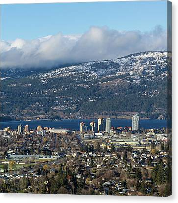 Downtown Kelowna From Dilworth Canvas Print