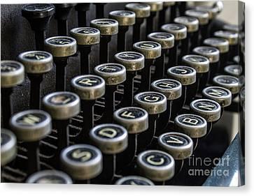 Dusty Typewriter Canvas Print