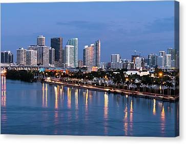 Early Rise Miami Canvas Print