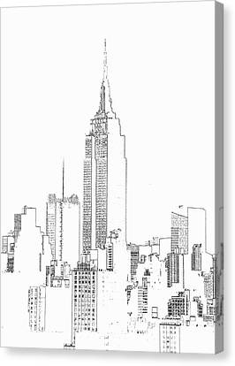 Empire State Building  Photographic Canvas Print by Michael Duva