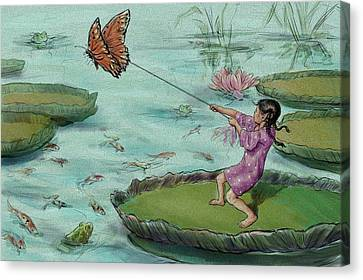 Escape-thumbelina Canvas Print