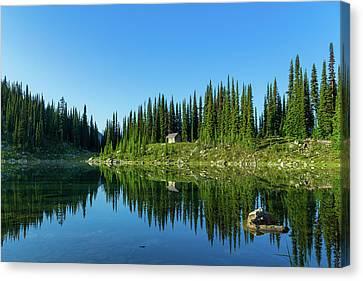Eva Lake Cabin Canvas Print