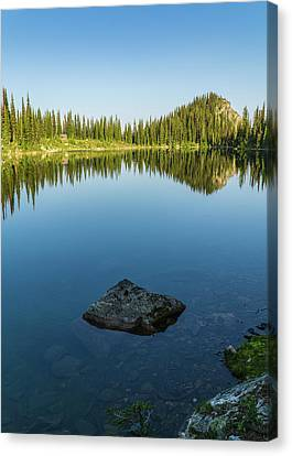 Eva Lake Mirror Canvas Print