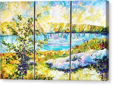 Expanse Of The Canyon. Triptych Canvas Print