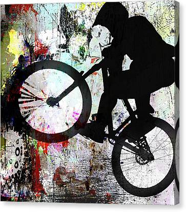 H580 BMX Rider Slihouette Sports Canvas Poster Wall Art Print Picture Framed