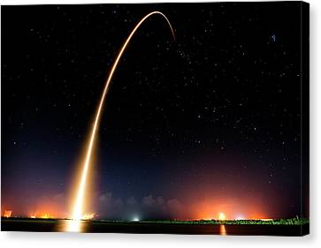 Falcon 9 Rocket Launch Outer Space Image Canvas Print