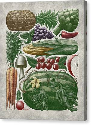 Farmer's Market - Color Canvas Print