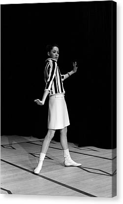 Fashion Mini Dress Courreges In France Canvas Print by Reporters Associes