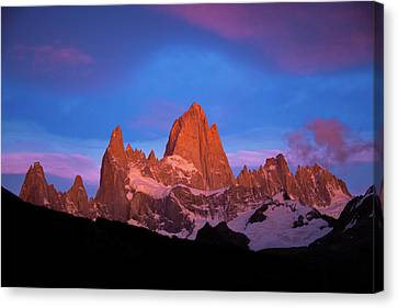 First Light On Fitz Roy Canvas Print
