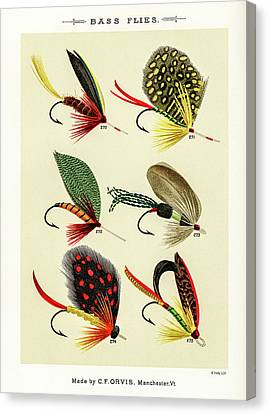 Fly Fishing Lures 29 Canvas Print