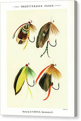 Fly Fishing Lures 32 Canvas Print