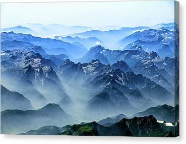 Fog Mountains Canvas Print
