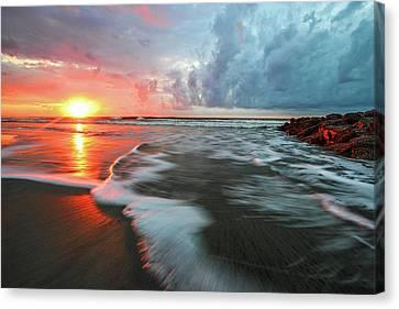Sunrise At Folly Beach Canvas Print