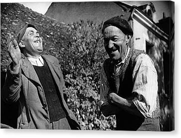French Villagers Canvas Print by Bert Hardy