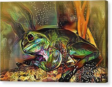 Frog Art By Kaye Menner Canvas Print