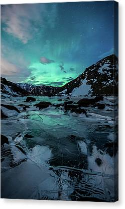 Canvas Print featuring the photograph Gale-force Aurora V by Tim Newton