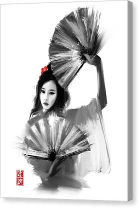 Geisha Fan Dance Canvas Print
