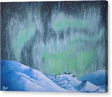 Glacial Aurorae Canvas Print